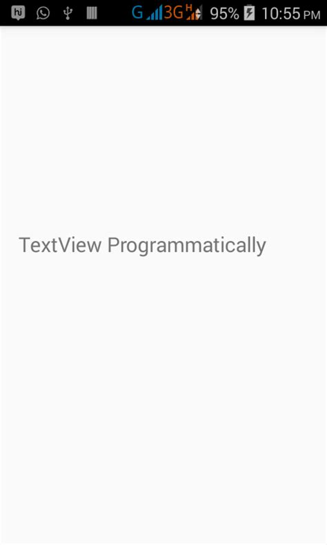 android textview layout height programmatically create textview dynamically using java file in android