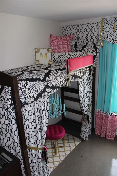 decorating your dorm room in pink and black theme hot pink ole miss dorm black gold tiffany pink decor 2 ur door