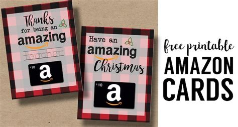 Amazon Gift Card Holder - printable christmas gift card holders for amazon paper trail design