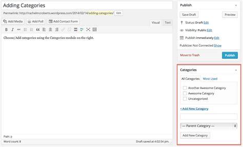 tutorial wordpress categories wordpress tutorial categories add new categories