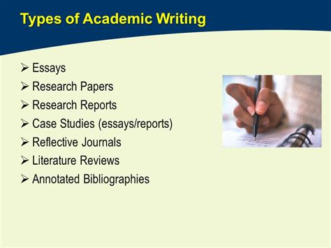 Types Of Research Papers by Welcome To Imi The Academic Essay Anthimos Georgiou Ppt