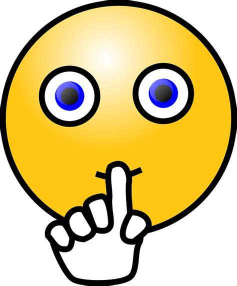 emoji quiet emoticon quite quiet 183 free vector graphic on pixabay