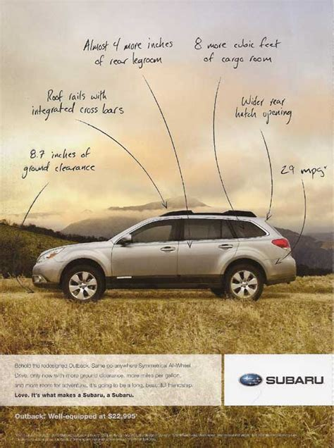 car ads in magazines subaru advertising photographs page 2