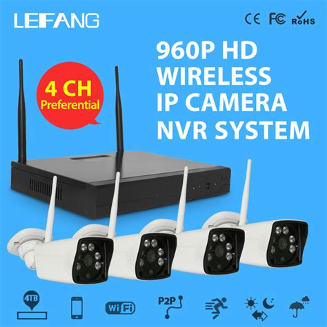 Cctv Nvr Kit 4ch 4 3mp Wireless Outdoor Disk 500gb Murah aliexpress buy 4ch nvr wifi system 4pcs 1 3mp 960p hd waterproof outdoor wireless