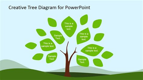 Creative Tree Diagram Powerpoint Template Slidemodel Tree Diagram Powerpoint