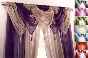 Swag Valance Curtains Voile Swag Swags Tassle Decorative Net Curtain Drapes Pelmet Valance 21 Colours