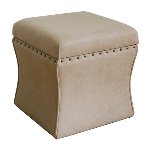 Homepop Cinch Upholstered Storage Cube Ottoman Reviews Ottoman Storage Cube