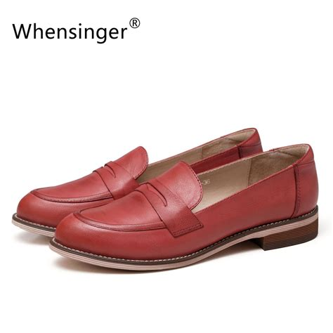Whensinger 2017 Leather Shoes Handmade - whensinger 2017 new shoes cow leather autumn flats 3