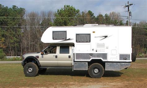 Homemade 4wd Awning Custom Ford F550 And Lance Camper Truck Camper Hq