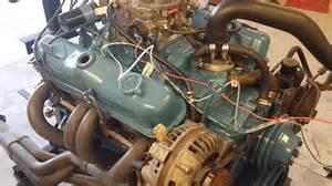 1981 dodge 318 pursuit on engine stand