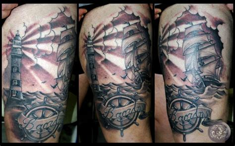 timon old school tattoo tatuaje realista faro tim 243 n muslo por medusa tattoo