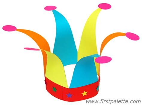 clown hat template jester s hat craft crafts firstpalette