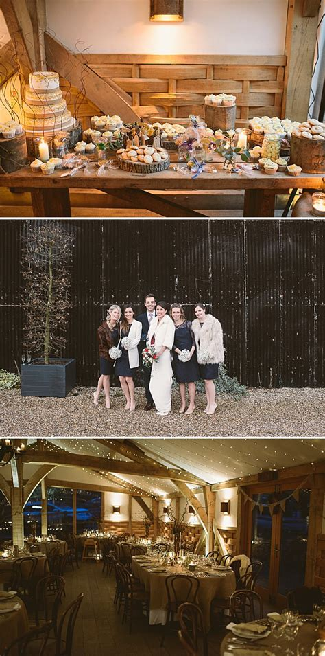 rustic winter wedding ideas uk a rustic winter wedding at cripps barn with diy home made
