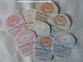 Baby Shower Favor Tags by Unique Personalized Baby Shower Favor Tags Gift