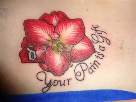 amaryllis tattoo 40 best realistic amaryllis tattoos images on