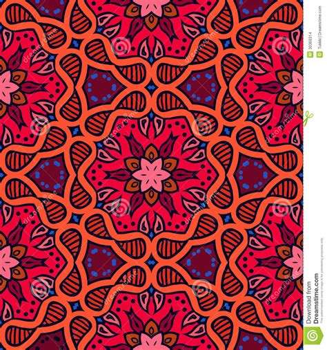 20973 Bold Retro Pattern S M L bold pattern with indian motifs stock vector image 30369314