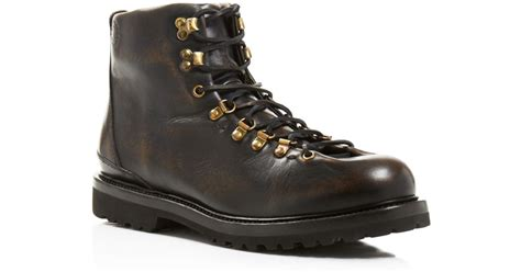 black leather hiking boots buttero canalone black leather hiking boots in black
