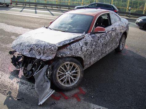 crash series 1 bmw 2 series prototype crash on autobahn in germany