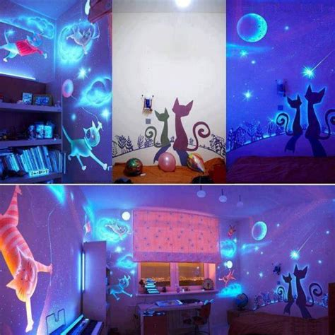 glow in the dark paint for bedroom walls glow in the dark paint alldaychic
