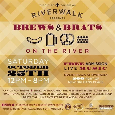 brats new orleans new orleans will rock the haus at riverwalk s brews