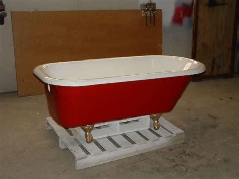 red bathtub claw foot bathtub freestanding oval unique red white