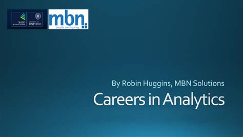 Career In Analytics After Mba by Mbn Academy Present At The Of Oxford Mba