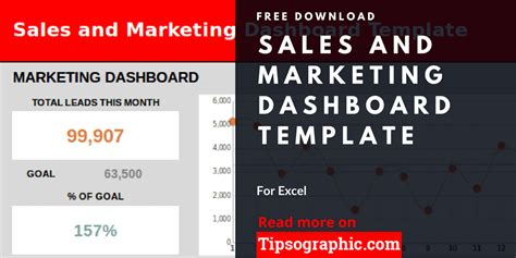 Sales And Marketing Dashboard Template For Excel Free Download Tipsographic Sales And Marketing Dashboard Templates