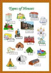 house types in english teaching worksheets types of houses houses