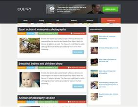 Templates For Blogs by Codify Template Templates Gallery