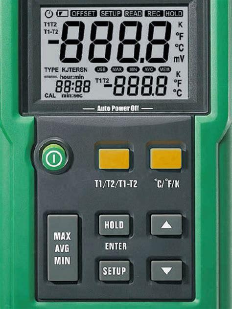Mastech Ms6512 1 dwukanałowy miernik temperatury mastech ms6512