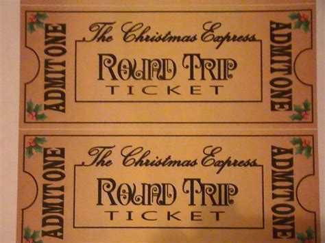 polar express ticket template polar express custom polar express printable