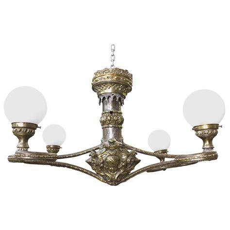 Globe Light Chandelier Fabulous Four Arm Globe Light Chandelier Pendant For Sale