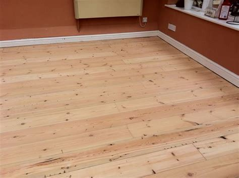 reclaimed pitch pine floorboards sanded sealed renovated