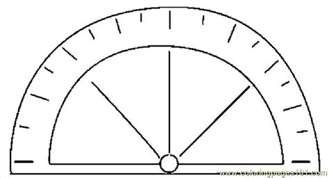 protractor print log protractor 4 coloring page free school coloring pages