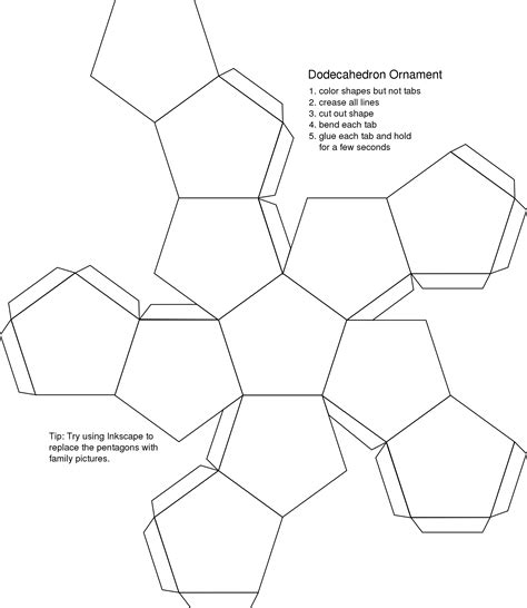foldable templates platonic solids natureglo s escience mathart library
