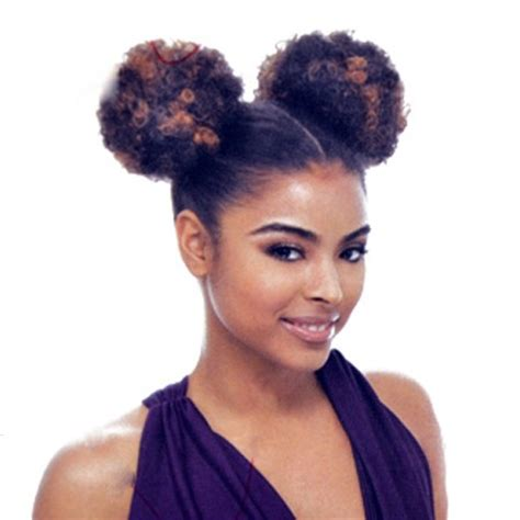 51 grey afro puffs janet collection ponytail afro puff 2pcs