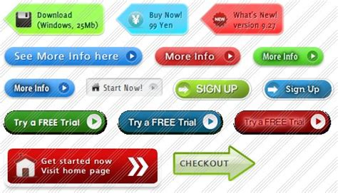 free web site buttons samples