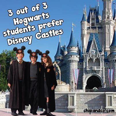 3 out of 3 hogwarts students prefer disney castles