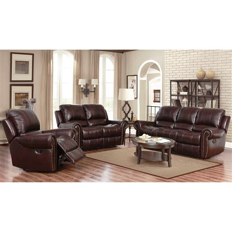 Leather Recliner Set by Abbyson Broadway Top Grain Leather Reclining 3
