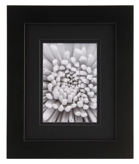 Frame Matted To 8x10 by Gallery Solutions 8x10 Black Frame Matted To 5x7