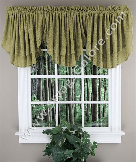 white kitchen curtains valances lace ascot valance white renaissance kitchen valances