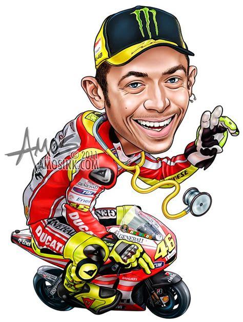 Nummernschild Motorrad Größe by Amosink Valentino Rossi Caricature Caricatures