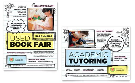 templates for school posters elementary school poster template design