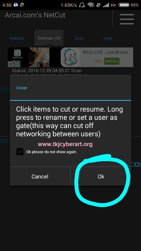 tutorial netcut untuk android anonymous cara menggunakan netcut di android