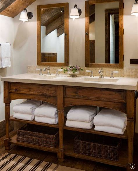 Rustic Modern Bathroom Vanities by Vanity Decorating Ideas Rustic Bathroom Designs