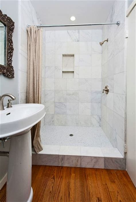 shower instead of bath walk in shower with curtain instead of door