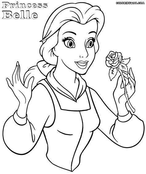 princess belle coloring pages coloring pages to download