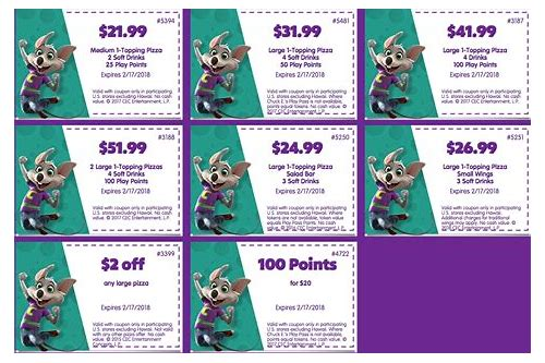 chuck e cheese coupons party 2018