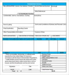 usa invoice template 18 commercial invoice template free documents