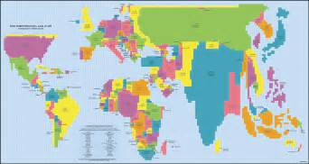 map of us based on population normalized global maps population vs economy